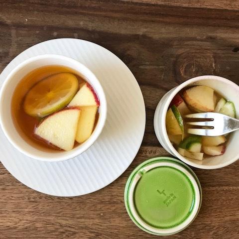 簡単ヘルシー、蜂蜜レモン&アップル漬け